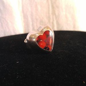 Sterling Good Luck Wayruro (Huayruro) Seed Ring
